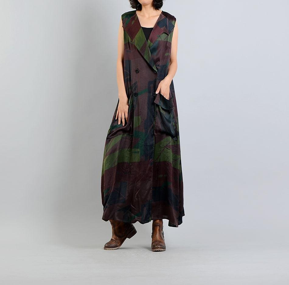 Здесь продается  2018 Summer Original Design New Cool Fashion Silk Print Women Vests Elegant Simple Tie Sleeveless Long Vest  Одежда и аксессуары
