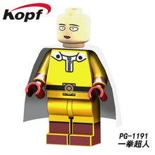 PG1191 Super Heroes Comic Series Anpanman One Punch-Man Action Figures Saitama Building Blocks Learning Model For Children Toys(China)