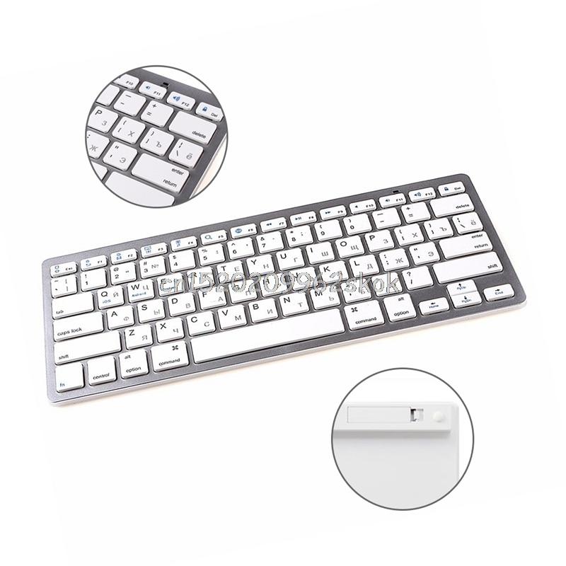 Russian Mini Wireless <font><b>Bluetooth</b></font> 3.0 Slim <font><b>Keyboard</b></font> For Mac Windows PC <font><b>Tablet</b></font> #H029#