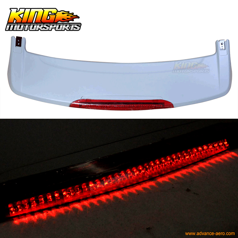 For 07-11 Honda CRV OE Factory Style Roof Spoiler With LED Unpainted - ABS 12v oe fittimng factory style fog lights
