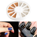 1200pcs Gold & Silver Glitters 3D Design Nail Art Decoration Stickers Metallic Studs 1R22