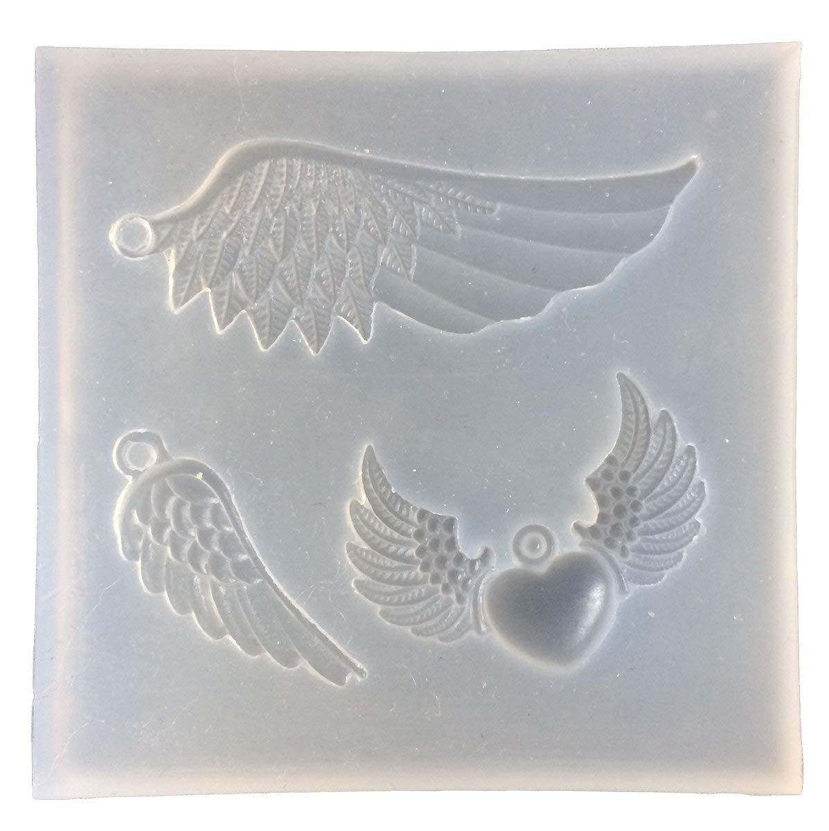 DIY Craft Jewelry Making Resin Casting Mould Silicone Pendant Mold Angel Wing Tools