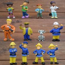12Pcs/Set anime Fireman Sam action figure  figure PVC Figures doll toys 3-6cm Cute Cartoon  For Decoration or collection