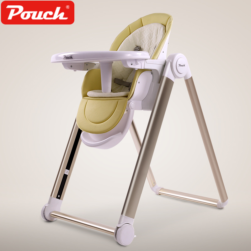 2018 New Design Baby Highchair Which The Height Is Adjustable And Convenience For Mother