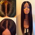 Best 8A Silky Straight 4x4 Silk Top Full Lace Human Hair Wigs Virgin Brazilian Silk Base Lace Front Wigs With Baby Hair