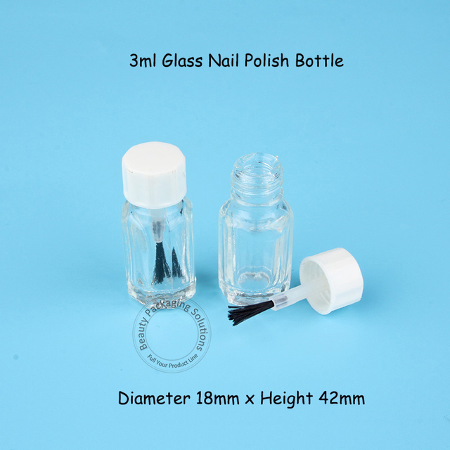 200pcs Lot Whole 3ml Mini Empty Gl Bottle With White Cap 3 Gram Makeup Tools