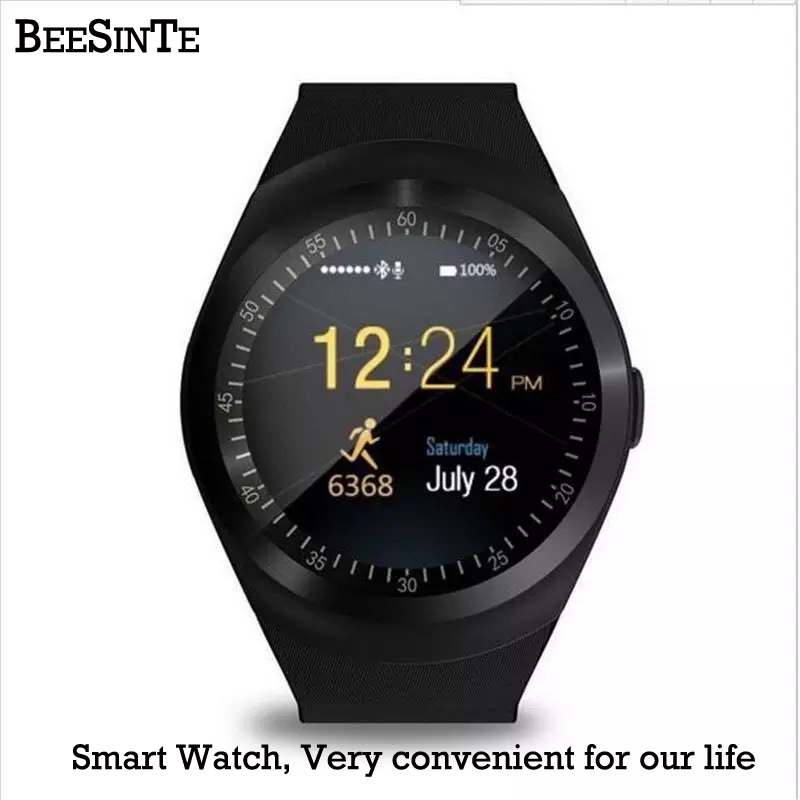 Smart Watch Bluetooth Smart wristband water proof Phone Call Support  with GSM Sim fitness tracker For Android Information-in Smart Watches from Consumer Electronics