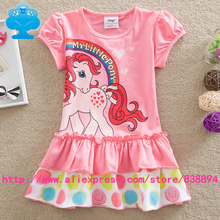 Flags 5pcs/lot 2016 New baby girl clothes my little pony Fashion princess summer Dress Legging casual for kids children Q9110#
