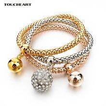 Круглые браслеты с подвесками toucheart камень для женщин девушек