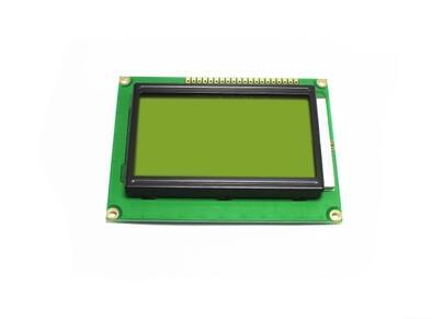 1PCS LCD 12864 128x64 Dots Graphic Yellow Green Color Backlight LCD Display Shield 5.0V Connector