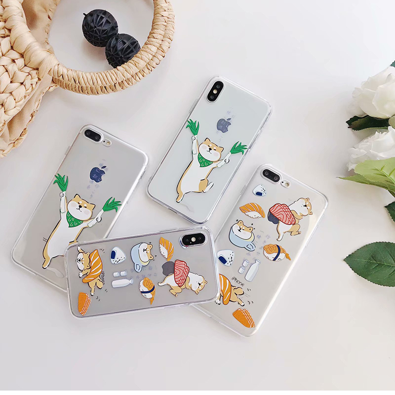 Cute Welsh Corgi Pembroke Shiba Inu Animal Dog Soft Silicon TPU Case Cover For Iphone X 8 8Plus 7 7Plus 6 6S Plus Funda