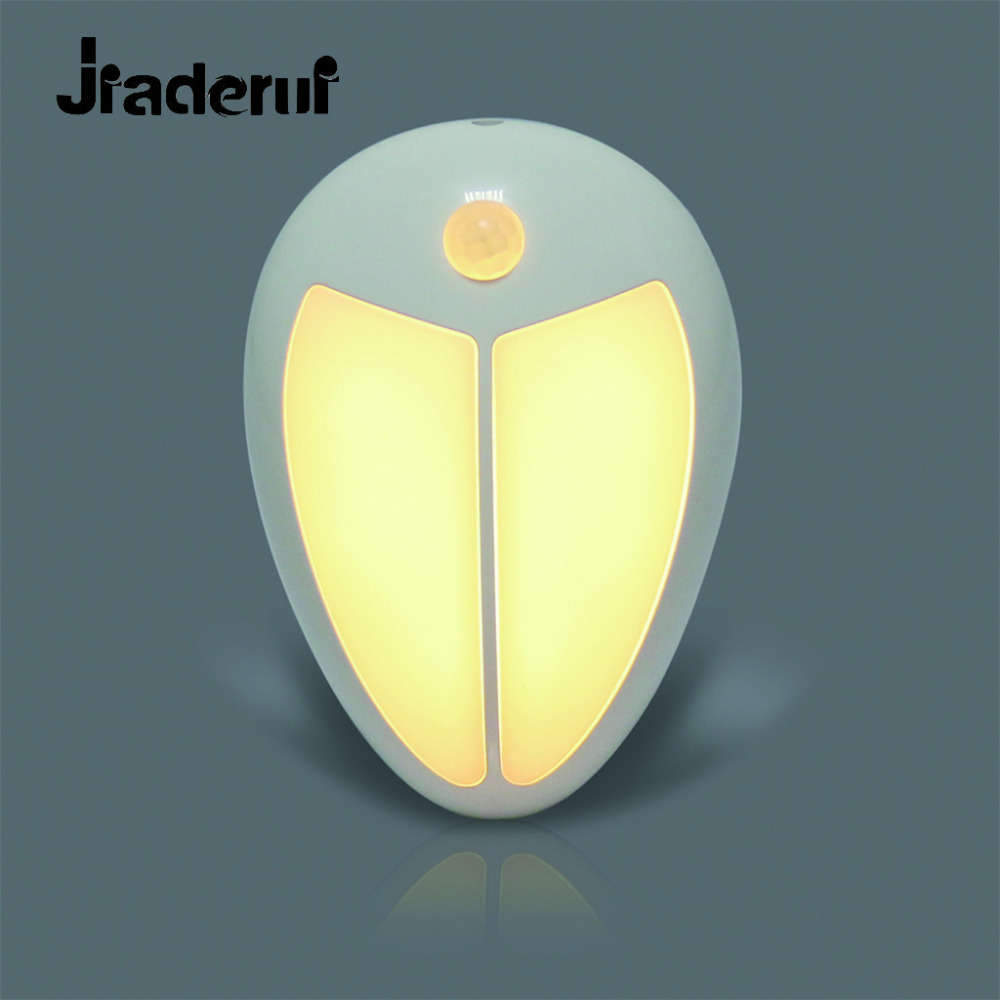 Jiaderui PIR Motion Light Sensor LED Night Lights Wireless Porch Wall Lamp Baby Bedroom Hallway Cabinet Stairwell Kitchen Lights led beetle nightlight porch stairway wall lamp wireless motion sensor intelligent led human body induction sconce night lights