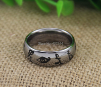 Free Shipping USA UK Canada Russia Brazil Hot Sale 8MM Mortal Instruments Runes Silver Dome The