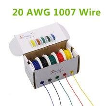 30 m UL 1007 20AWG 5 di colore Della Miscela scatola 1 scatola 2 pacchetto di Cavo di Filo Elettrico Linea di Compagnia Aerea di Rame PCB filo