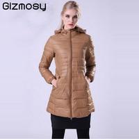 Little Elf Snowka Warm Winter Jacket Women Coat Thin 90 White Duck Down Parka Ultra Light