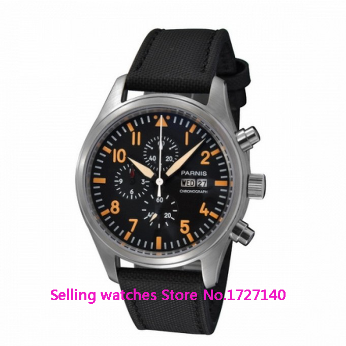 Здесь продается  42mm Parnis Stainless Steel Orange Marks stop watch Quartz Watch  Часы