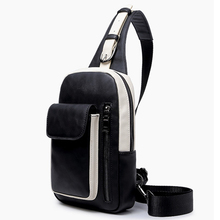 Top grade pu leather chest bags business men chest pack fashion trend shoulder bags  men messenger bags casual men travel bags