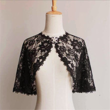 Elegant Bridal Jackets and Shrugs Evening Party Lace Wraps Bolero with Brooch 2019 New Arrival