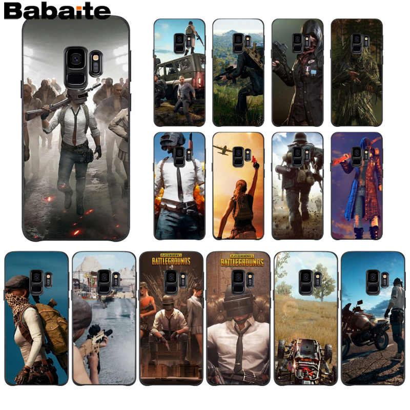 Babaite PUBG Coque Shell Phone Case For Samsung S5 S6 S6 Edge S7 Edge S8  Plus