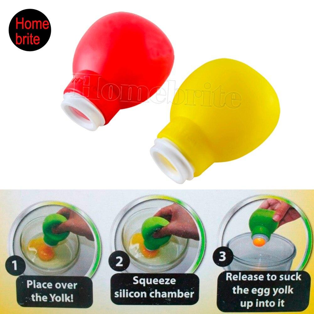 Silicone Pluck Eggs Separator Yolk Extractor Divider Kitchen Gadget K211