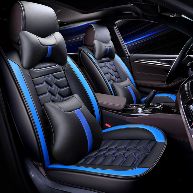 Black Blue Trax Car Seat Covers Cover Set For Ford Kuga 2008-2012