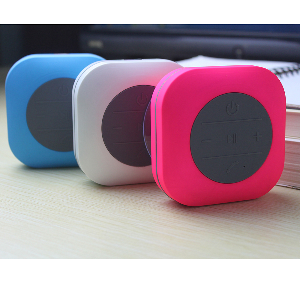 mini wireless bluetooth speaker waterproof car bathroom shower speaker music player loudspeaker with mic sucker handsfree