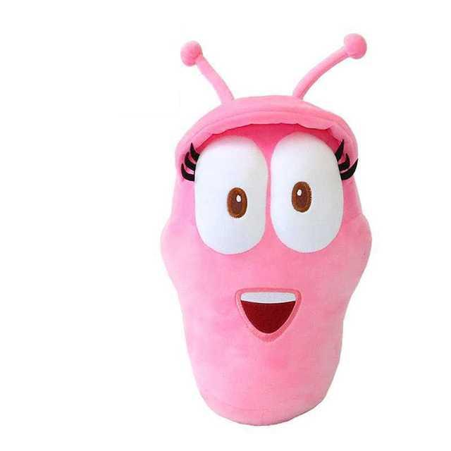 20CM Korean Anime Larva Plush Toys Pink insects soft