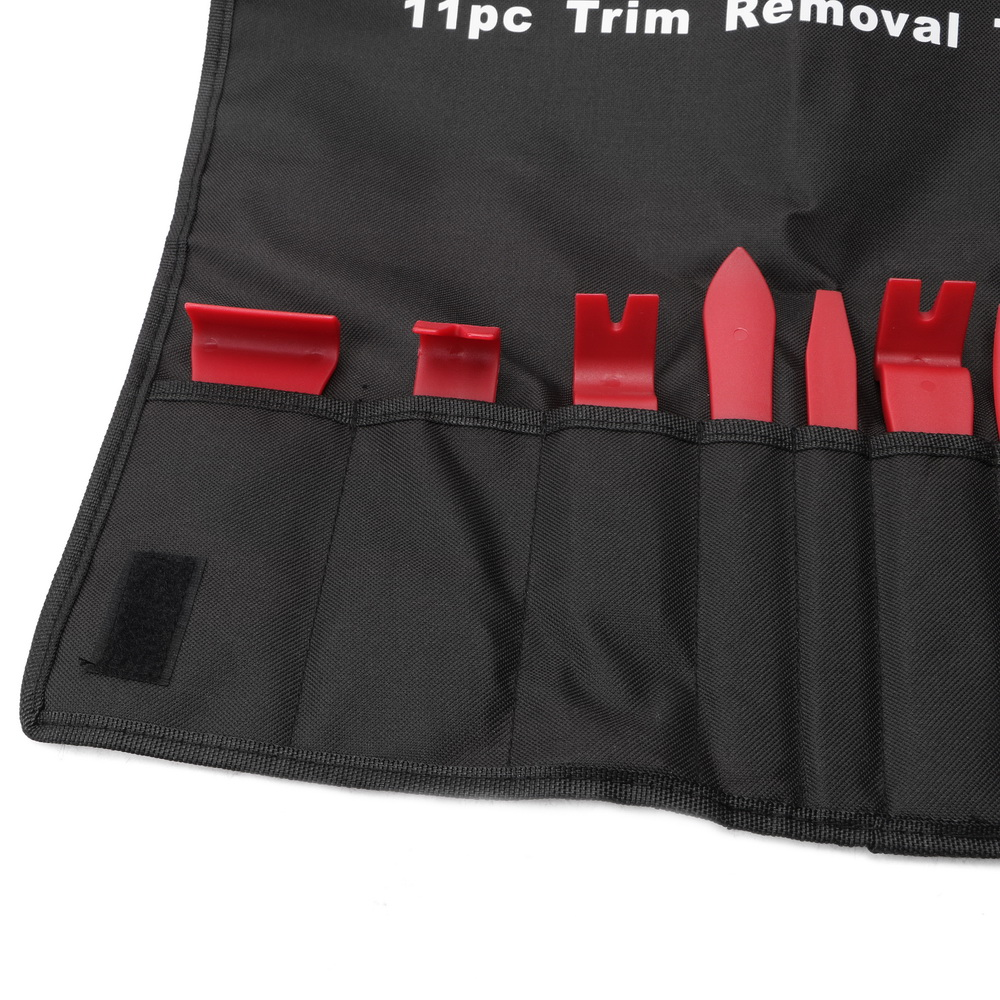 YOSOLO 11pcs/set Nylon Storage Bag Trim Removal Tool Set Auto Upholstery Tools Door Molding Dash Panel Trim Tool Kit