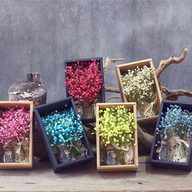 One box babys breath flower gift packing box wedding decorative one box babys breath flower gift packing box wedding decorative flowers natural dried plant birthday gift negle Choice Image