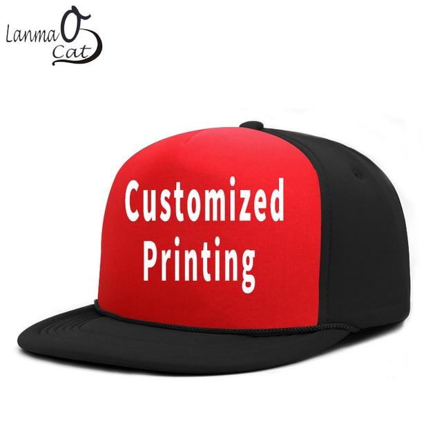 Lanmaocat Customzied Bboy Caps Printed Snapback Hat Custom Logo Print Hip  Hop Cap Men Women Plain Cool Hip Hop Hat Free Shipping 0e1030341a1f