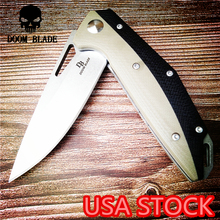 200mm 100% D2 Blade Ball Bearing Knives Tactical Folding Knife Camping Hunting Survival Flipper Knife Pocket EDC Multi Tools G10 ch 3001 flipper tactical ball bearing folding knife d2 blade g10 handle outdoor survival camping hunting pocket knives edc tools