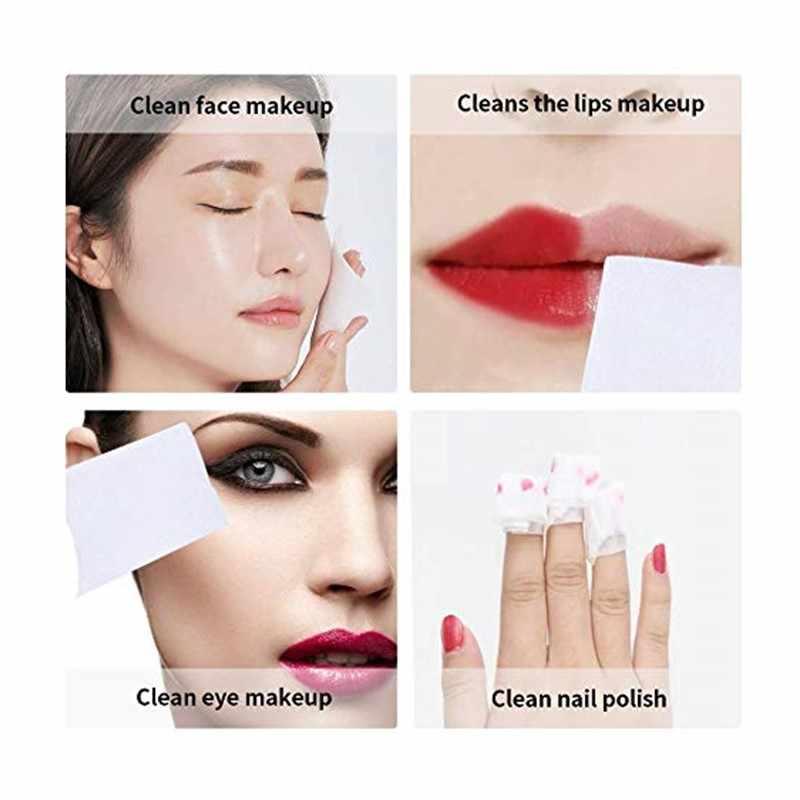 50 個顔有機綿パッド顔クリーニングマニキュアリムーバー化粧ティッシュメイク美容スキンケアツール