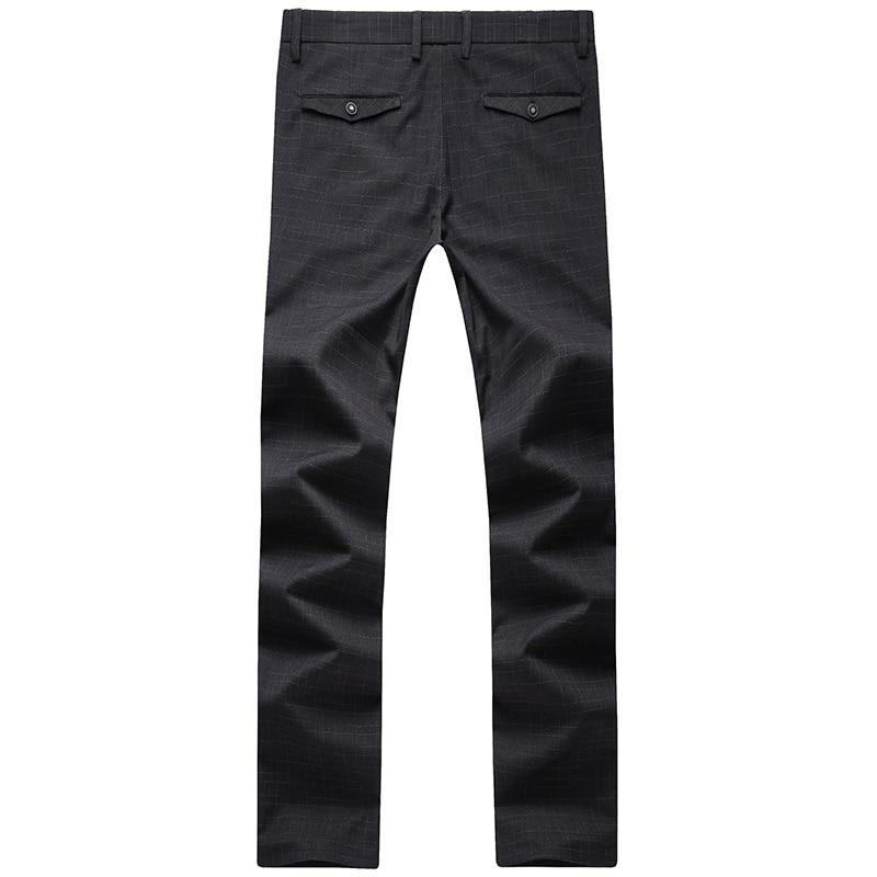 Calidad Pantalones De Negro Moda Casual 2017 Algodón 100 Hombres Estilo Nuevo Raya Envío Ocio Negocios Alta Gratis Los npgqzTw6I
