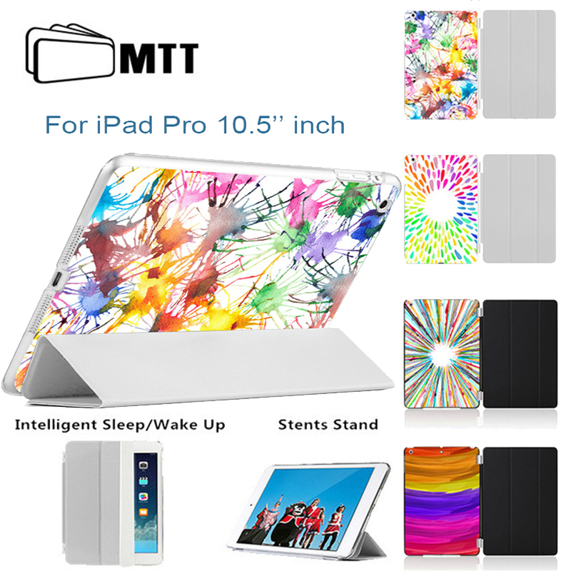 MTT Print Color Painting Case For New iPad Pro 10.5 Inch 2017 Slim Smart PU Leather Cover PC Back case for iPad Pro 10.5 inches for apple ipad pro 10 5 case 2017 new mtt parrot pu leather slim trifold smart cover for new ipad 10 5 pro cases coque fundas