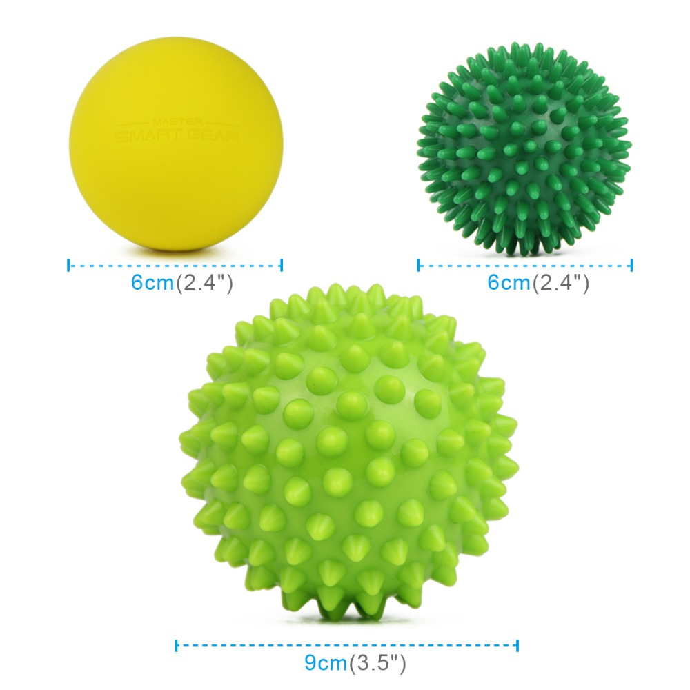 Fitness Massage Ball Set Back Lacrosse Ball Crossfit For Effective Relief Muscle Pain Therapy Sports Gym Release Health Care arm muscle fitness equipment electronic hand grips gyro power ball flash wrist ball