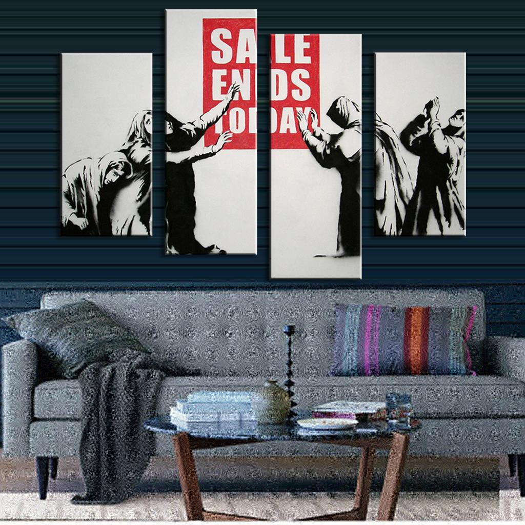 online get cheap banksy for sale aliexpresscom  alibaba group -  pcsset banksy sale ends today wall art modern oil canvas painting wallpictures
