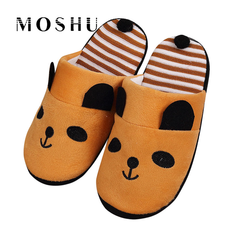 Women Cotton Warm Home Slippers Autumn Winter Non Slip Cute Cartoon Panda Indoor Soft Slippers Shoes Flats Female SlidesWomen Cotton Warm Home Slippers Autumn Winter Non Slip Cute Cartoon Panda Indoor Soft Slippers Shoes Flats Female Slides