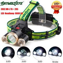 Bicycle Bike Light 9000Lm 3X XML T6+2R5 LED Headlight Headlamp Flashlight18650 Torch Light Lamp Waterproofing Adjustable Base