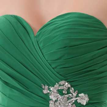 Bridesmaid Dresses 2017 YOUXI BD011 Women\'s Off Shoulder Sweetheart Green Padded vestidos Chiffon Dresses