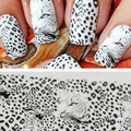 2015  Wild Style Full Wrap Water Transfer  Nail Art Salon Decal Stickers Tips DIY Decorations   smt 101