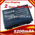 4400 mAh 6 batería celular y el para Asus K40 / F82 / A32 / F52 / K50 / K60