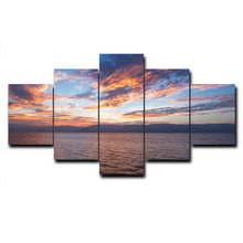 5 Panel Sunrise Decorative Wall Charts Picture Abstract Canvas Posters and Prints Paintings on the Wall Home Decoration modern seaside sunrise palm tree beach wall art posters and prints canvas paintings on the wall home decoration