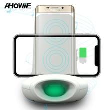 Ahowie зарядная док-станция для Iphone Xs Max Xr X 8 Plus Qi Беспроводное зарядное устройство 15 Вт для samsung S10 S8 S9 Plus Индукционная зарядка