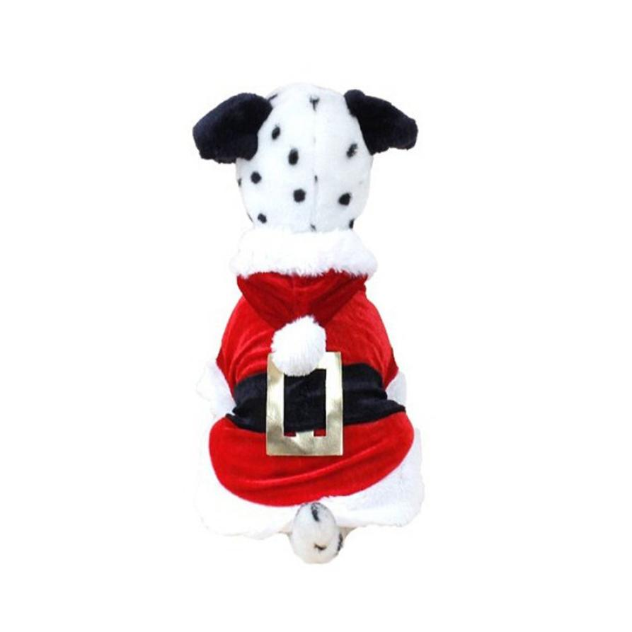 2017 nouveau noël chien vêtements Santa Doggy Costumes Pet vêtements nouveau Design chien manteau chien vêtements hiver chien XT