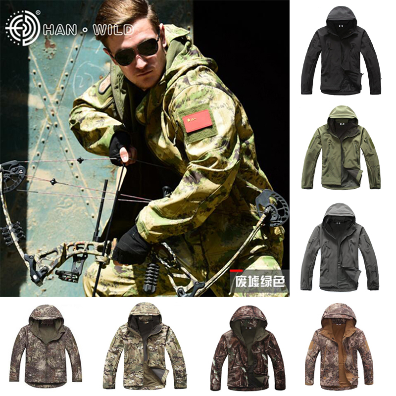 TAD Outdoor Hunting Camping Windproof Jacket Or Pants  Softshell Waterproof Clothes Camouflage Tactical Suits