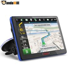 Pantalla Capacitiva de 7 pulgadas de Navegación GPS Del Coche FM Construido en 8 GB/256 M Mueca de Dolor 6.0 Mapa De Europa/EE. UU. + Canadá Camión vehículo Navegador gps
