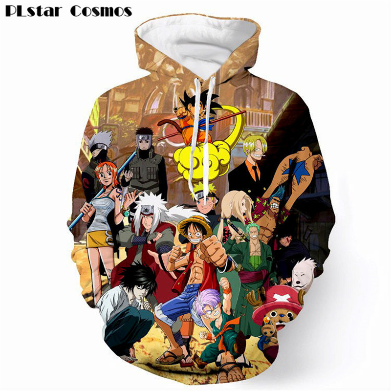 PLstar Cosmos 2018 Design Hip hop Anime Paparazzi Men Women 3D Print Hoodies Sweatshirts Jumper Hooded Cool Outwear Harajuku 5XL
