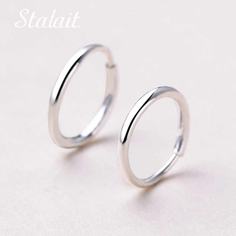 Minimalist Jewelry Small Circle Hoop Earrings Diameter 10/12/14/16mm Fashion Silver Color Hoop Earrings For Girl Party Gift
