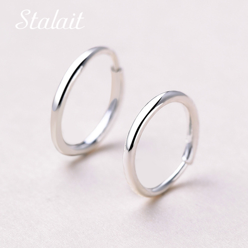 Minimalist Jewelry Small Circle Hoop Earrings Diameter 10/12/14/16mm Fashion Silver Color Hoop Earrings For Girl Party Gift locket