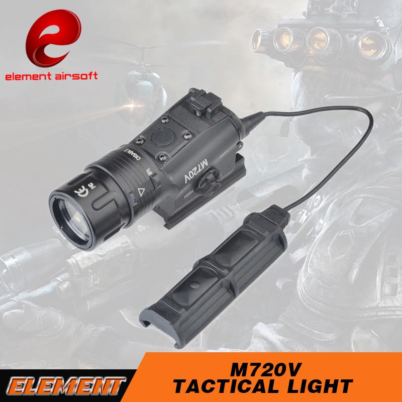 Prix pour Airsoft Élément M720V Airsoft Tactique lampe de Poche Strobe Version Éclairage au Pistolet Tactique Arme Légère EX273